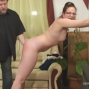 Filthy minx gets vicious spanks on her posterior