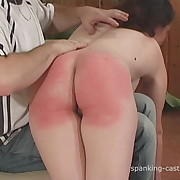Fit doll gets her rump spanked