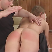 Ravishing babe gets her butt flagellated