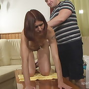 Dissolute broad gets sadistic whips on her buttocks