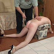Chick was spanked unconnected with hairbrush