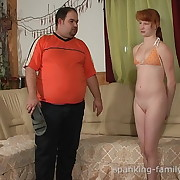 Men punished get under one's redhead babe