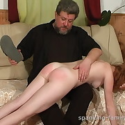 Someone's skin redhead was spanked overwrought shoe