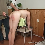 Salacious puss has vicious spanks on her tail