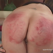 Lewd doll has barbarous spanks on her butt