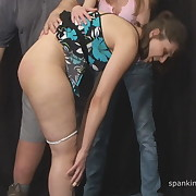 Raunchy soubrette gets stern whips on her glutes