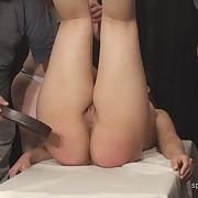 Voluptuous maiden has sadistic spanks on her posterior