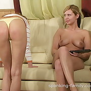Lustful chick gets brutal spanks on her bottom
