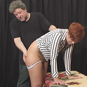 Classy wench gets her buttocks trounced