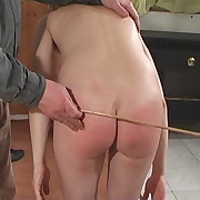 Stunning dame gets her bottom flogged