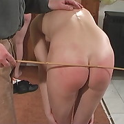 Stunning dame gets her bottom flogged