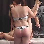 Salacious doll gets sadistic spanks on her tush