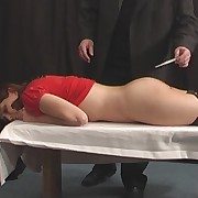 Mega hussy gets whipped badly