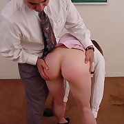 Sexy office worker gets reprimanded wide of will not hear of boss added to enjoys bare bottom spanking