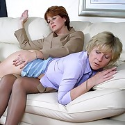 Tow-headed milf spanked otk