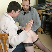 Two guys spanking otk pamper