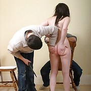 Two hard up persons spanking babe in arms