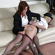 Bad officer girl spanked otk