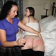 Voluptuous dame has severe spanks on her buttocks