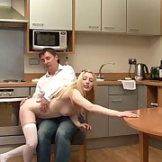 Lovely lass gets say no to bottom punished