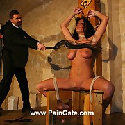 Roped busty brunettes clit mess up under most crucial bullwhip lashes