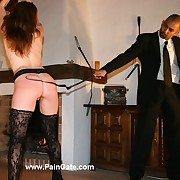 Hot nude babes in angry bullwhipping punishment for disobedience