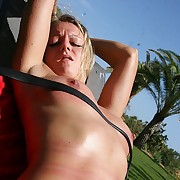 Very superb and sexy Helen gets countless nasty tit-, belly-, leg- and pussy-welts