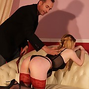 Beautiful pretty good Sunny suffers in her first whipping suffering experience