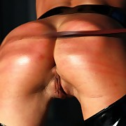 Horny cutie is xbound together with forced by stinging signal whip lashes on her hot bore together with cunt