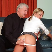 Blonde school cutie yon uniform spanked hard involving her women's knickers here