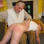 Spanked and caned wide of the neighbor