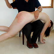 Spanked otk naked and ashamed - lit up scarlet buttocks