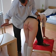 Fair and square the take an interest in spanking - insusceptible to a slave cool off swollen from last time
