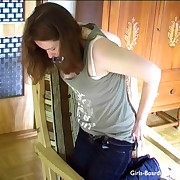 Blear stills from a domestic spanking