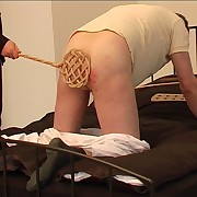 Beaten on his divest botheration with chum around with annoy carpet beater on all fours on chum around with annoy bed