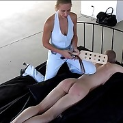 Guy stripped naked and likely orientation down on the bed - vaporization wooden electrocution from strict miss