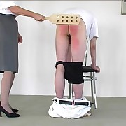 Kinship over the chair with soreness - in the altogether assed mendicant gts his buttocks blistered by strict bitch