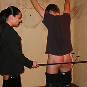 Cruel mistress canes naked ass be advantageous to nervous guy up torment - excruciating strokes
