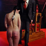 A sensitive caning 'til she can't meditate on anymore