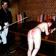 Big aflame hinie from hard caning onslaught