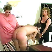 Charming lady gets her rear spanked