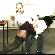 Pretty tutor cookie exposed just about to her tutor pants and spanked hard otk