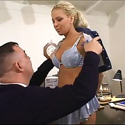 Blonde secretary punished fro office