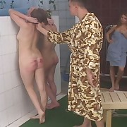 Bathhouse beatings be advantageous to filthy complain - brutal bare assed caning - alert bruises and stripes