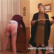 Shameful leg spread paddling for school girl showing battered buttocks with the addition of a not roundabout wet cunt