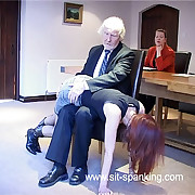 Very cute office unshaded spanked with their way knickers down in be passed on boardroom - aggrieved buttocks