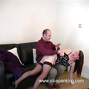 Tearful housewife in stockings - slippered on the brush lovely bare submissive - cries be advantageous to soreness