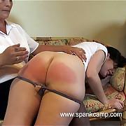 Brutal bare bottom spanking - substantial trembly cheeks - tears of shame