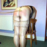 Pretty night-time poverty-stricken with the addition of caned on will not hear of lovely in the buff slave