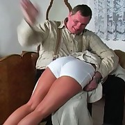 Kelly has failed to do her chores around the abode and knows that babe will be punished for it.  The master grabs her by the arm, throws her over his knee and begins to pummel her behind with his powerful hand.  this chab lifts up her skirt, pulls down her panties a